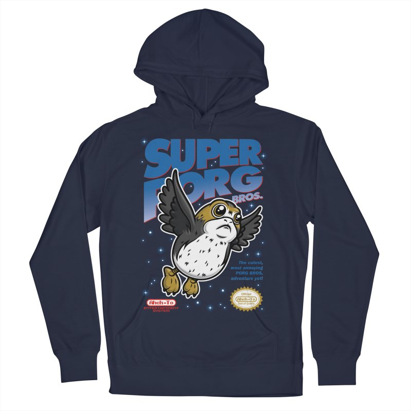 Super Porg Bros Men's French Terry Pullover Hoody by Olipop Art & Design Shop
