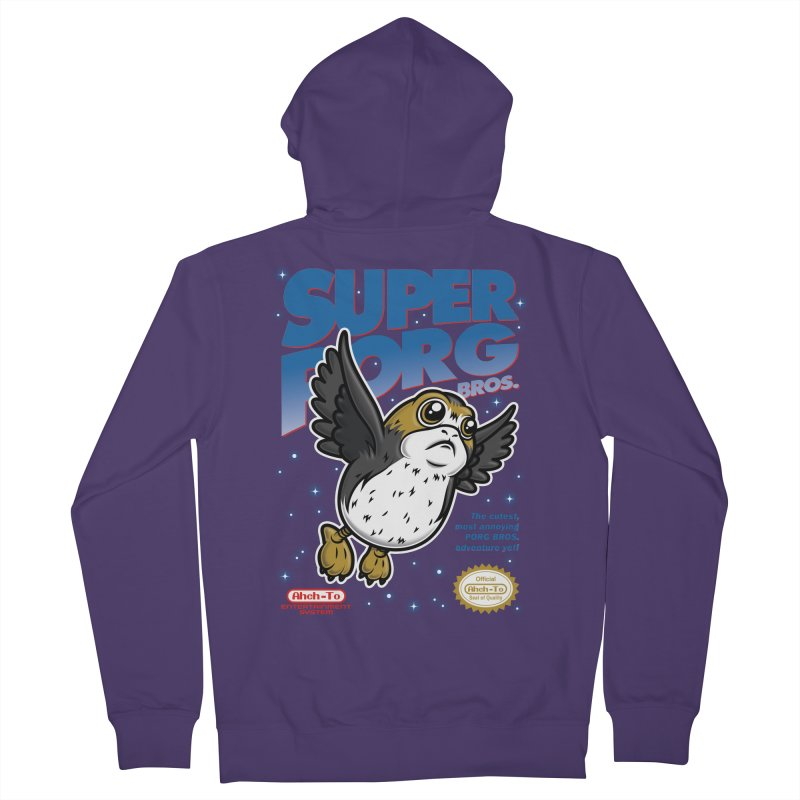 Super Porg Bros Women's French Terry Zip-Up Hoody by Olipop Art & Design Shop