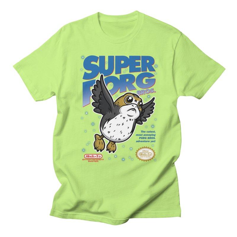 Super Porg Bros Men's Regular T-Shirt by Olipop Art & Design Shop