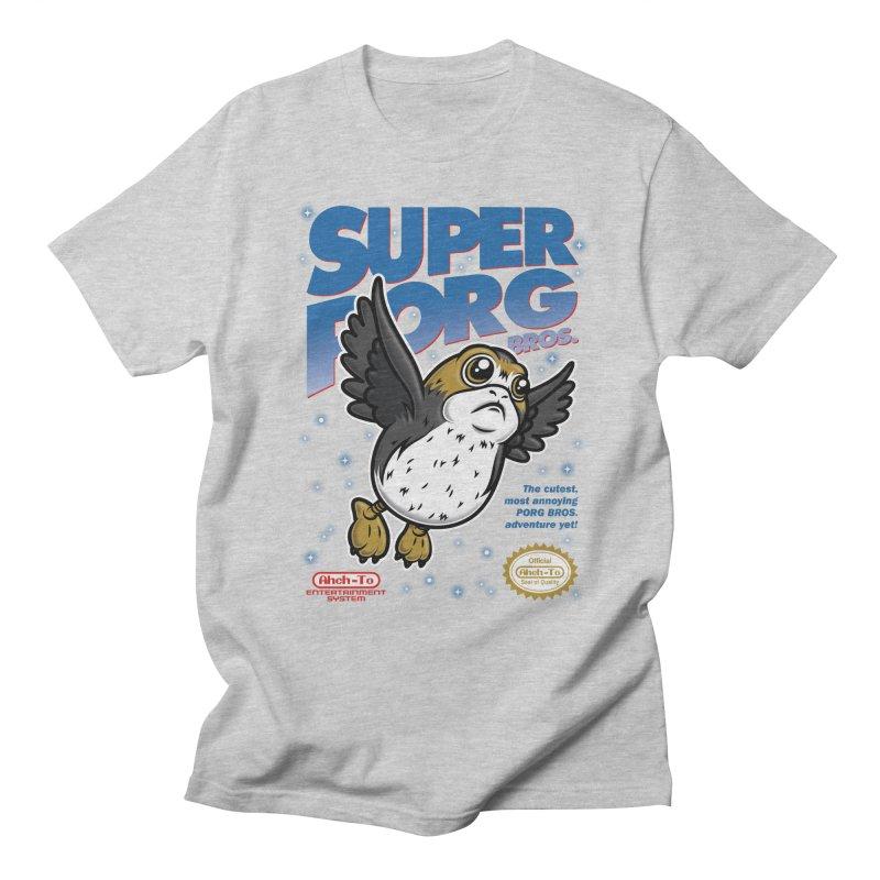 Super Porg Bros Women's Regular Unisex T-Shirt by Olipop Art & Design Shop