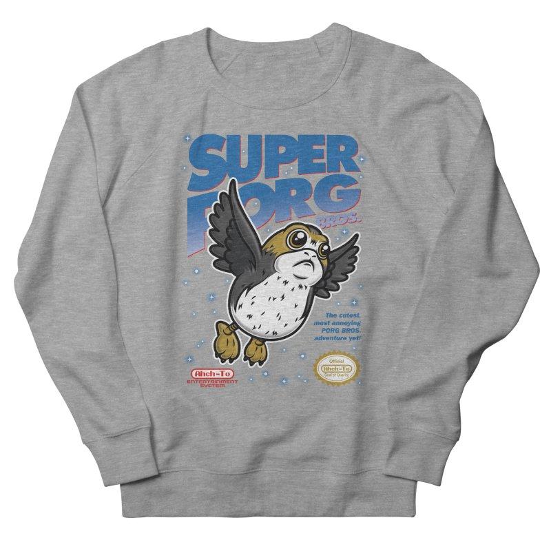 Super Porg Bros Men's French Terry Sweatshirt by Olipop Art & Design Shop