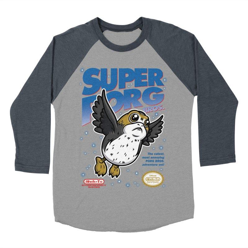 Super Porg Bros Men's Baseball Triblend Longsleeve T-Shirt by Olipop Art & Design Shop