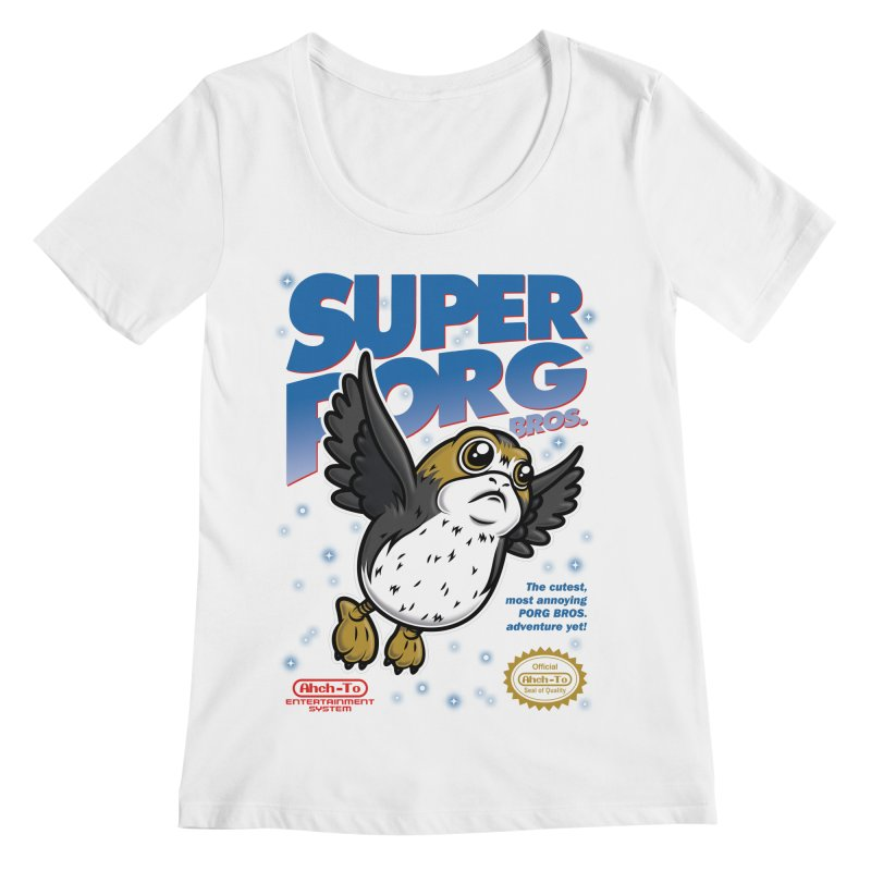 Super Porg Bros Women's Regular Scoop Neck by Olipop Art & Design Shop