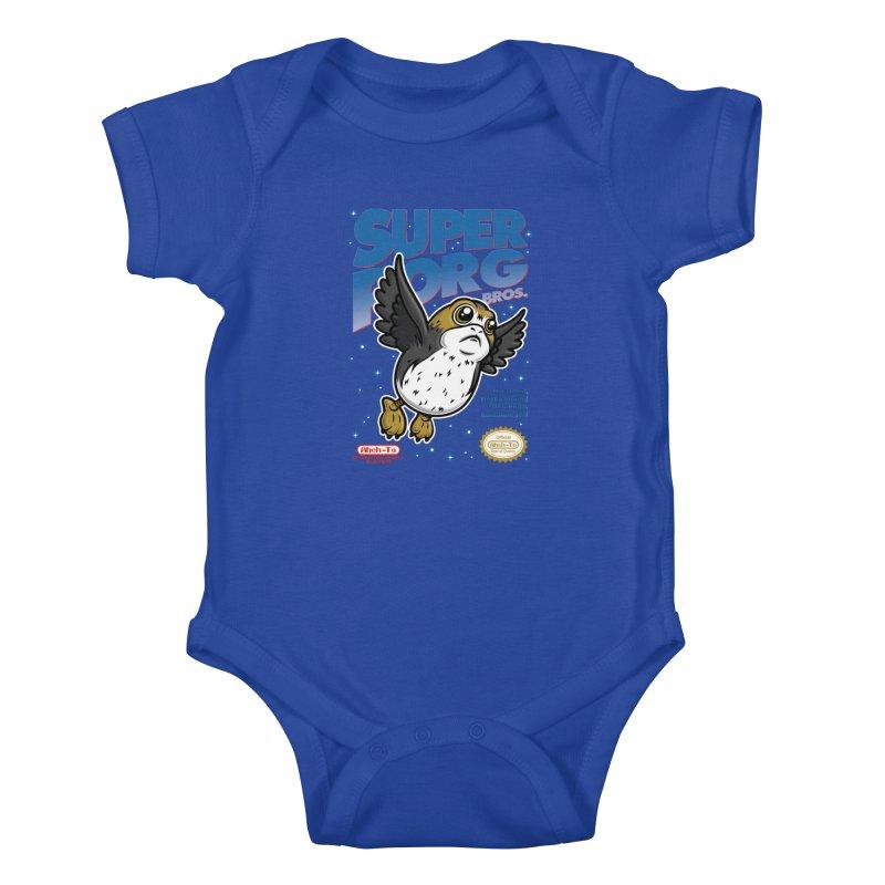 Super Porg Bros Kids Baby Bodysuit by Olipop Art & Design Shop