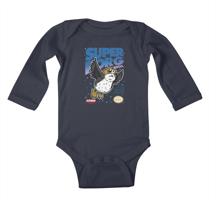 Super Porg Bros Kids Baby Longsleeve Bodysuit by Olipop Art & Design Shop
