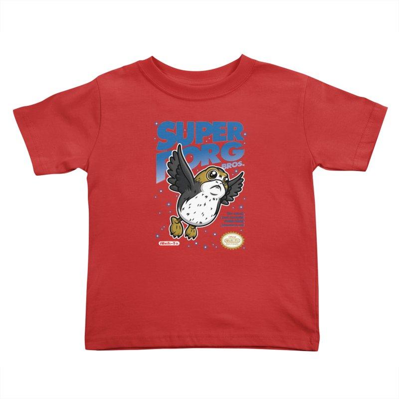 Super Porg Bros Kids Toddler T-Shirt by Olipop Art & Design Shop