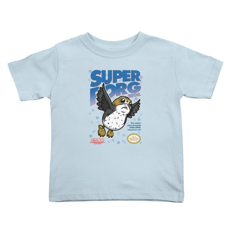 Super Porg Bros Kids Toddler T-Shirt by Olipop Art & Design Shop