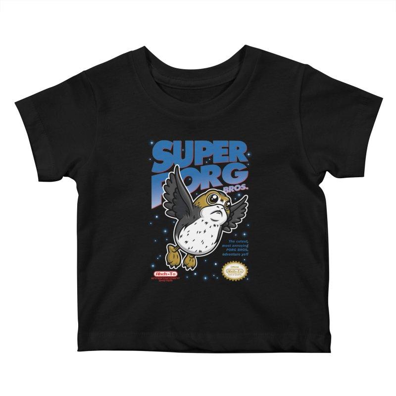 Super Porg Bros Kids Baby T-Shirt by Olipop Art & Design Shop