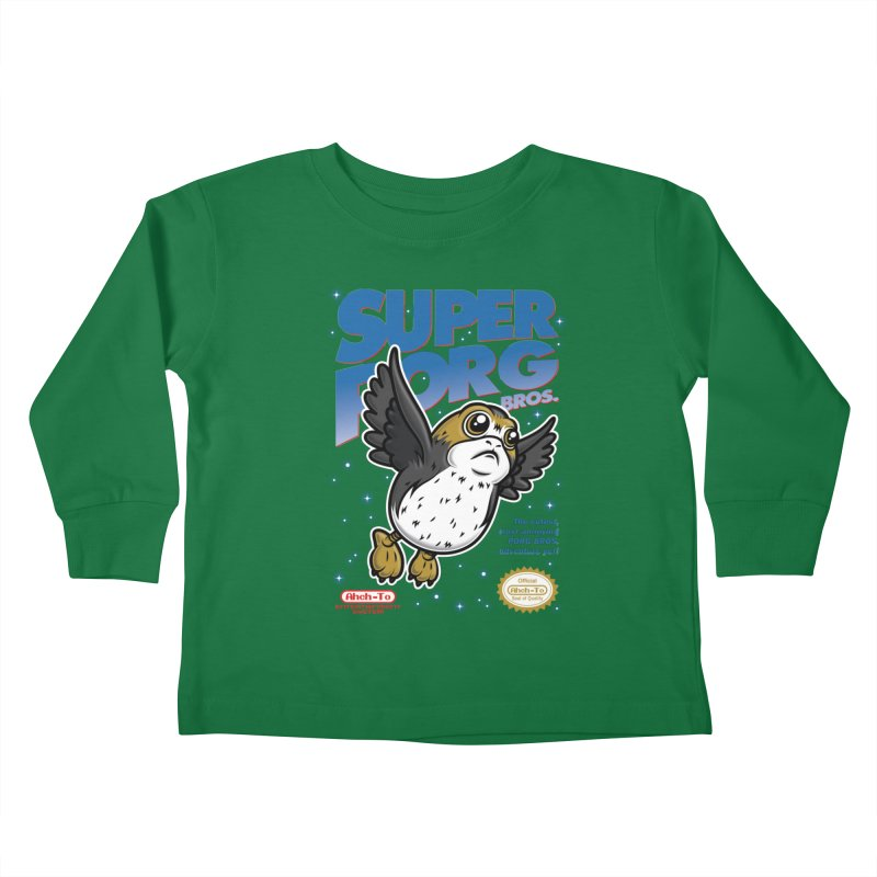 Super Porg Bros Kids Toddler Longsleeve T-Shirt by Olipop Art & Design Shop