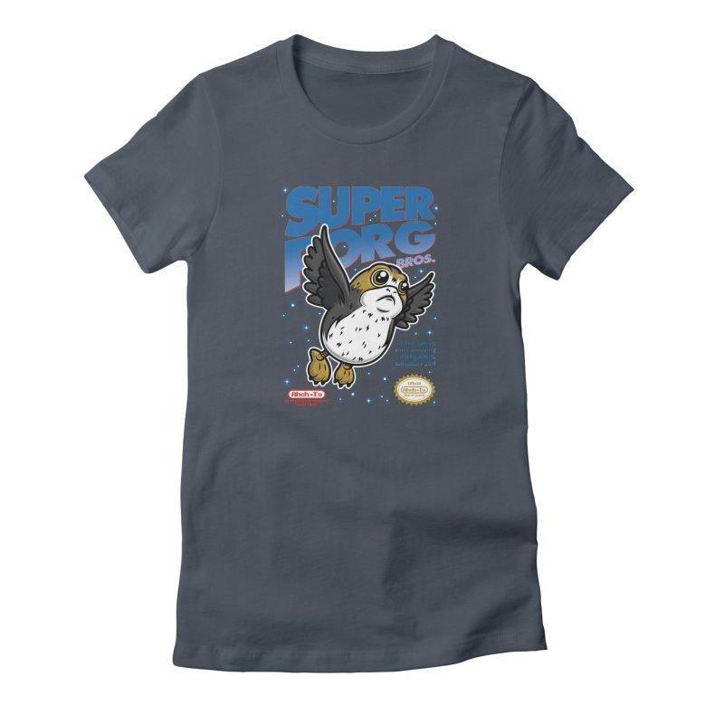Super Porg Bros Women's T-Shirt by Olipop Art & Design Shop
