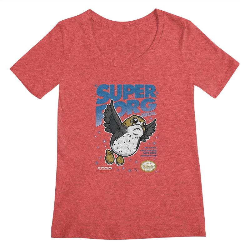 Super Porg Bros Women's Regular Scoop Neck by Olipop Art & Design Shop