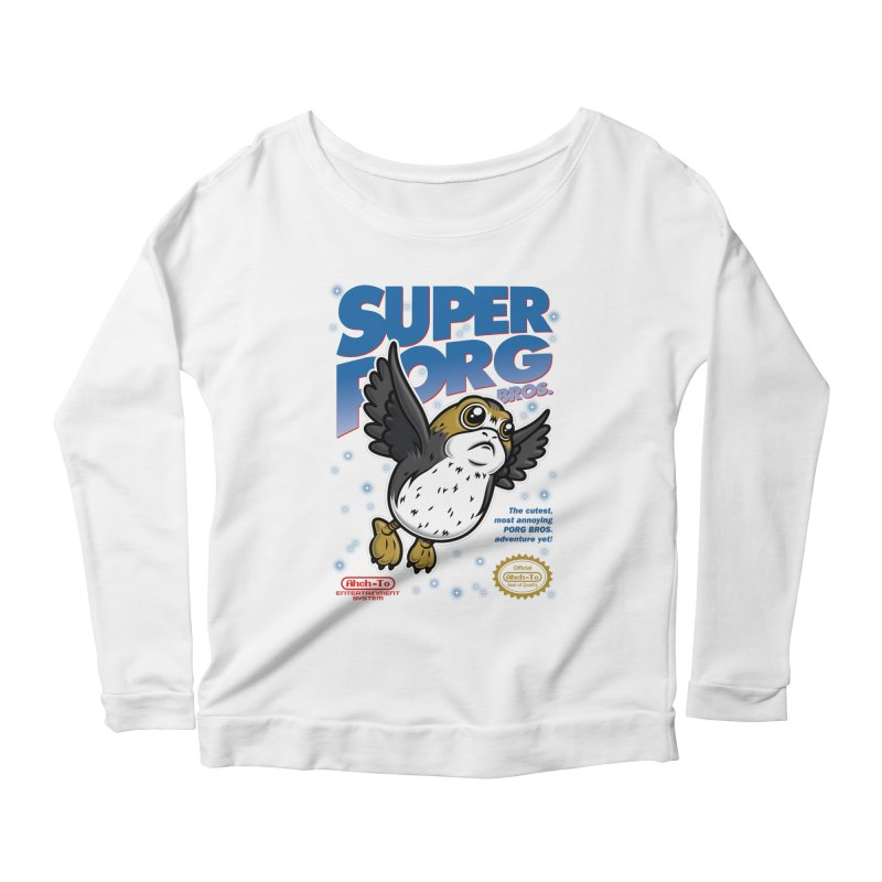 Super Porg Bros Women's Scoop Neck Longsleeve T-Shirt by Olipop Art & Design Shop