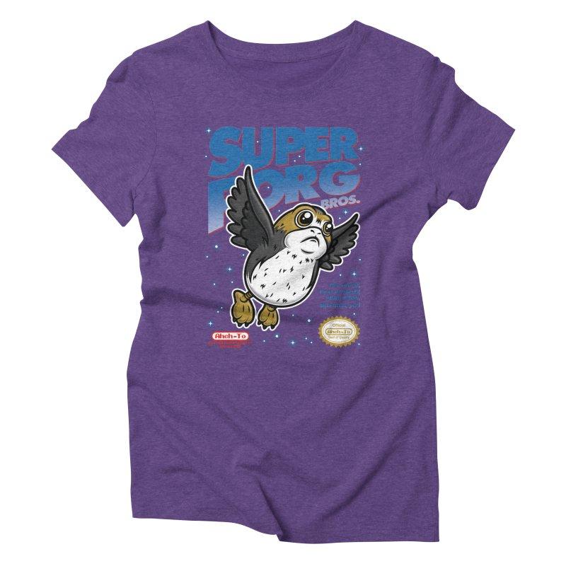 Super Porg Bros Women's Triblend T-Shirt by Olipop Art & Design Shop