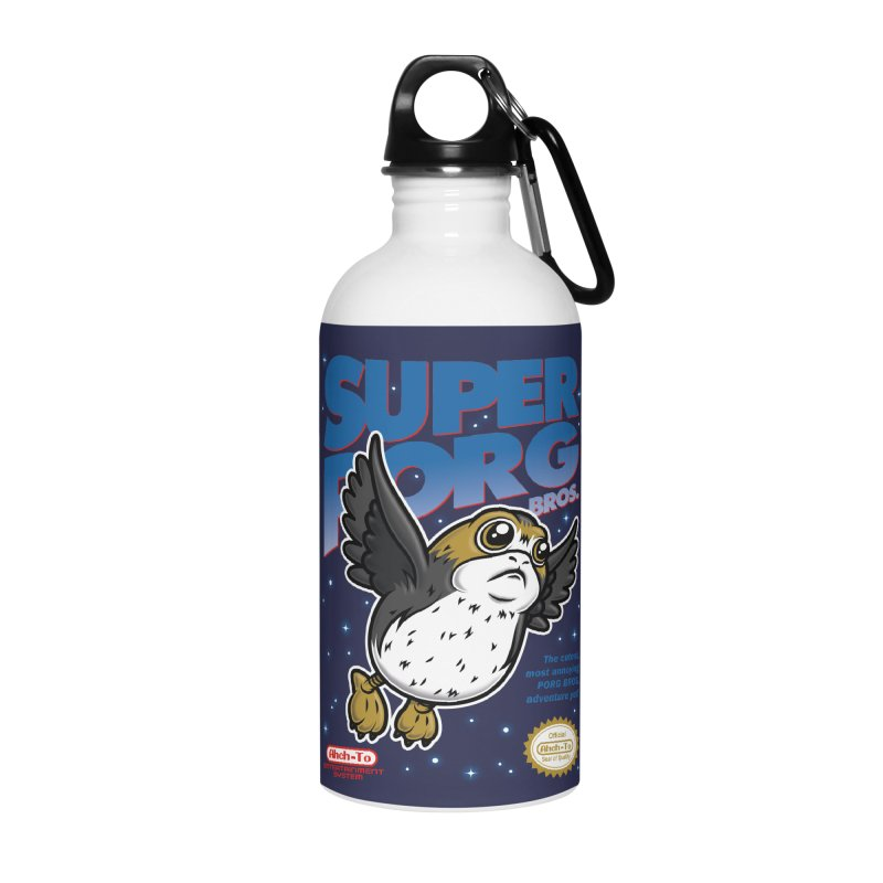Super Porg Bros Accessories Water Bottle by Olipop Art & Design Shop