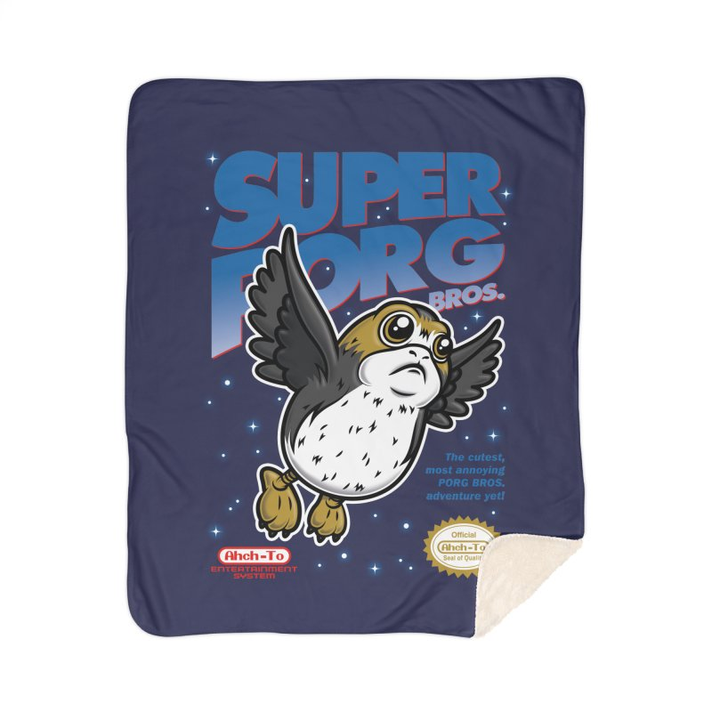 Super Porg Bros Home Sherpa Blanket Blanket by Olipop Art & Design Shop