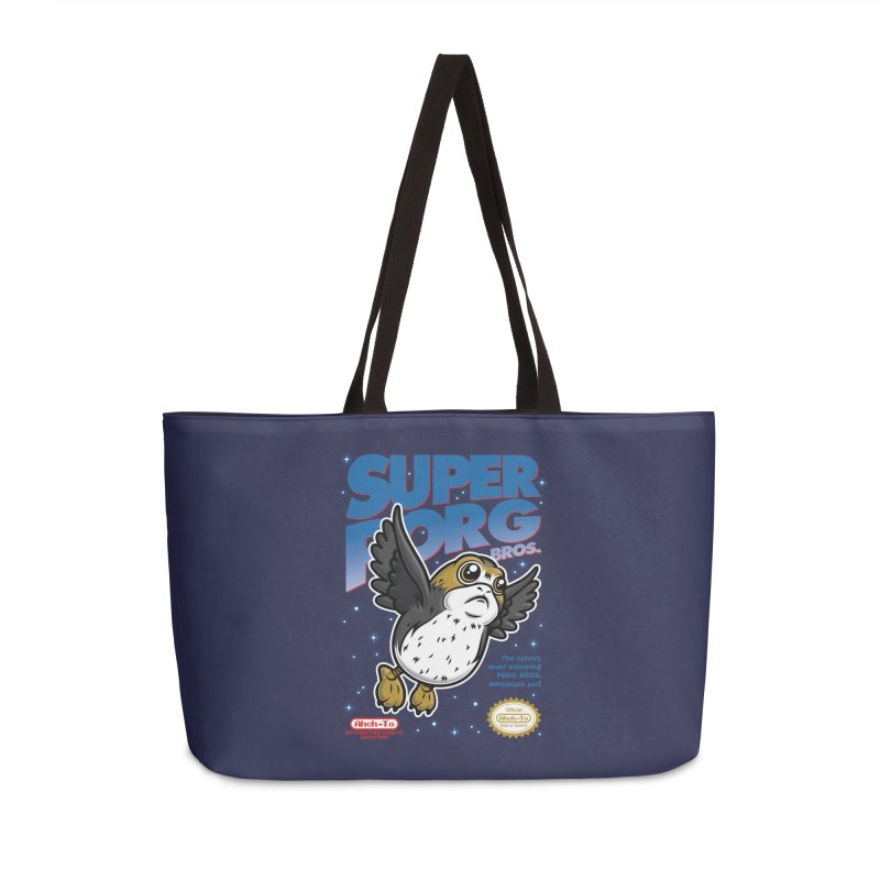 Super Porg Bros Accessories Weekender Bag Bag by Olipop Art & Design Shop