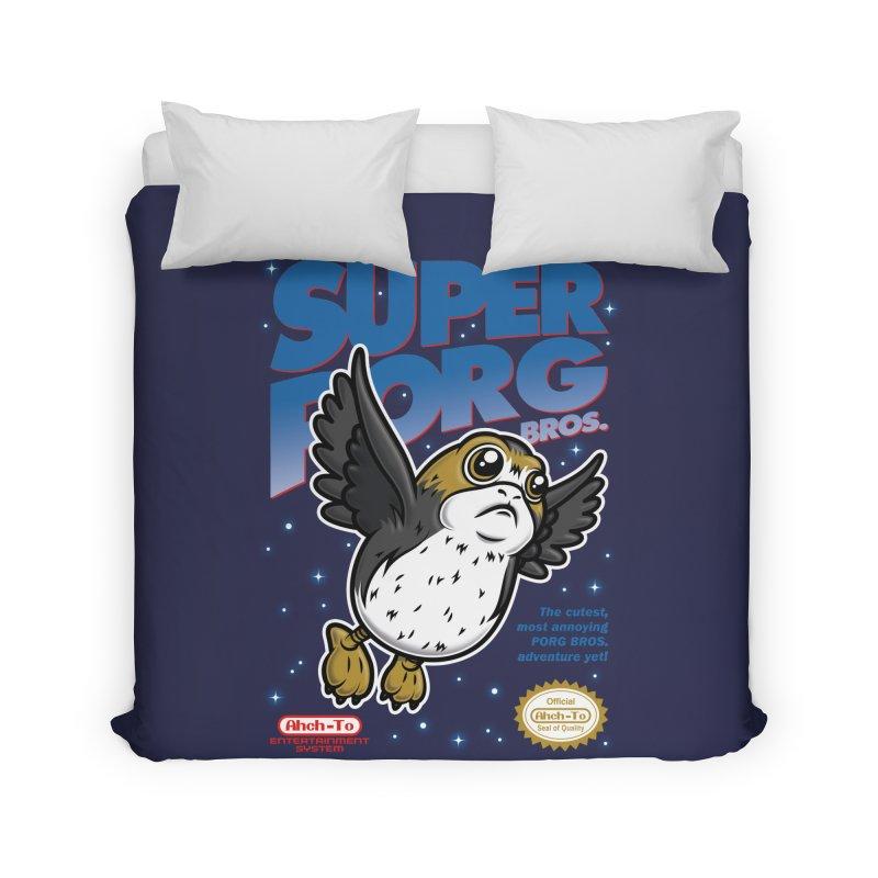 Super Porg Bros Home Duvet by Olipop Art & Design Shop
