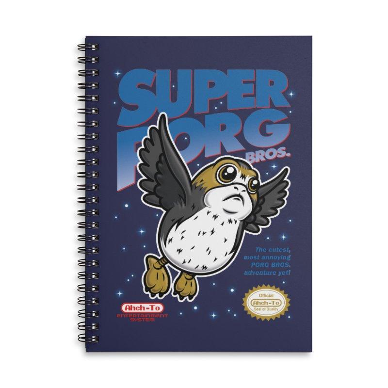 Super Porg Bros Accessories Lined Spiral Notebook by Olipop Art & Design Shop