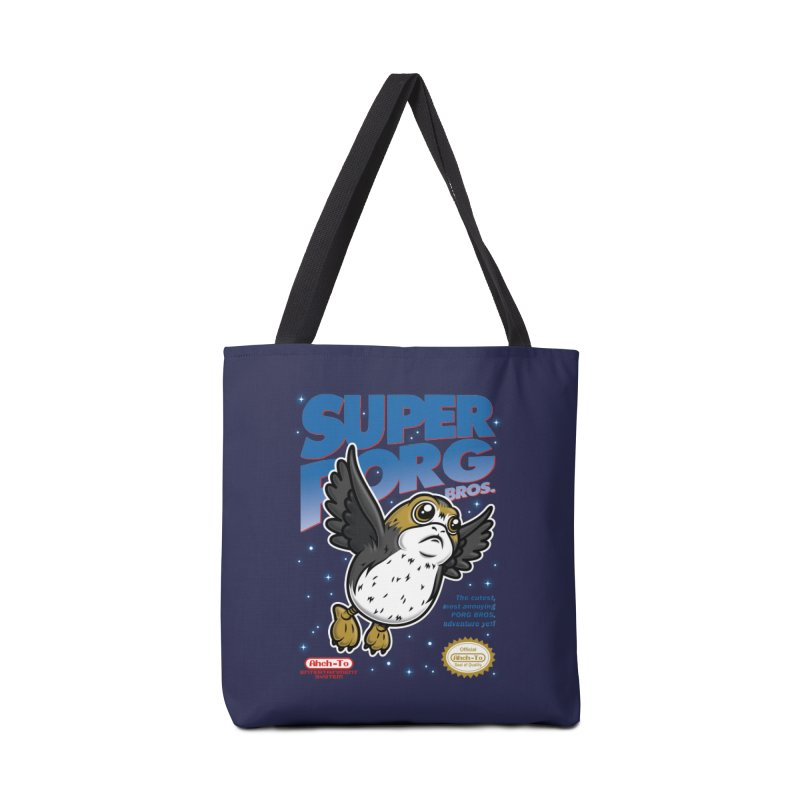 Super Porg Bros Accessories Tote Bag Bag by Olipop Art & Design Shop