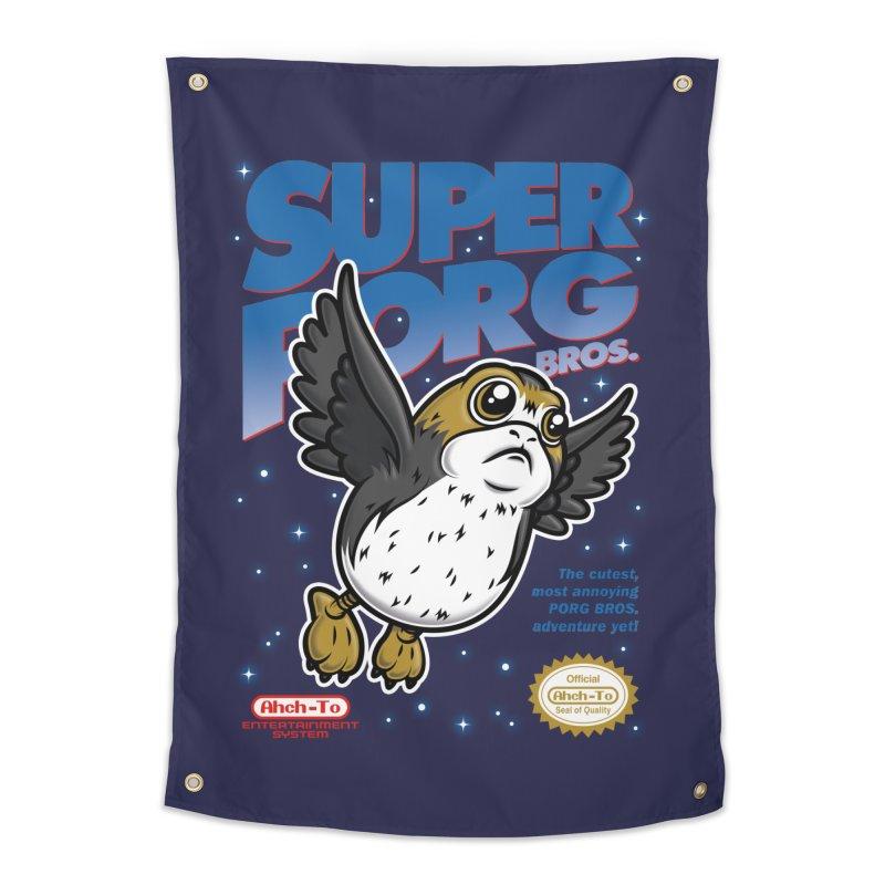 Super Porg Bros Home Tapestry by Olipop Art & Design Shop