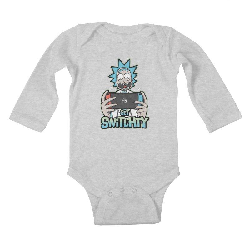 Get Switchty Kids Baby Longsleeve Bodysuit by Olipop Art & Design Shop