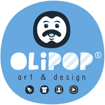 Olipop Art & Design Shop Logo