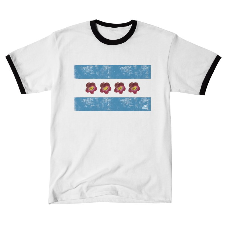 Chicago Flower Flag with Violets Men's T-Shirt by Ollam's Artist Shop