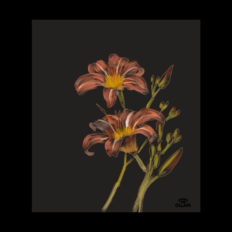 Tiger lily 2 Accessories Sticker by Ollam's Artist Shop