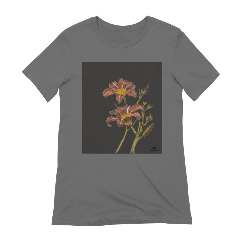 Tiger lily 2 Women's T-Shirt by Ollam's Artist Shop