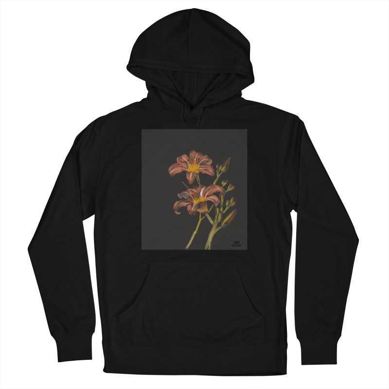Tiger lily 2 Women's Pullover Hoody by Ollam's Artist Shop