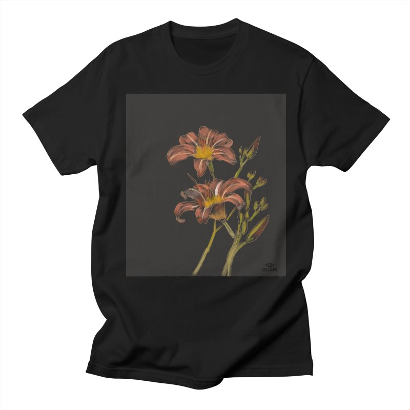 Tiger lily 2 Men's T-Shirt by Ollam's Artist Shop