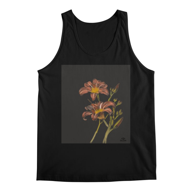 Tiger lily 2 Men's Tank by Ollam's Artist Shop