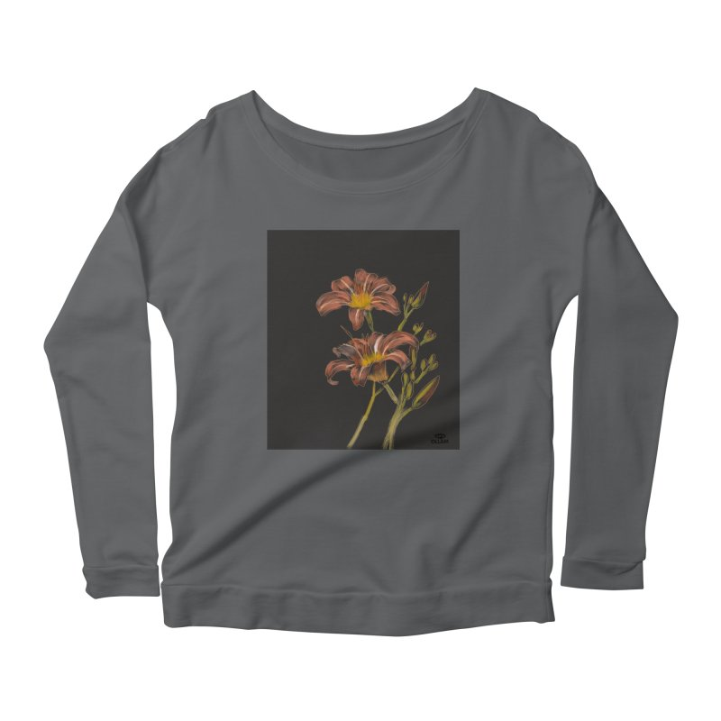 Tiger lily 2 Women's Longsleeve T-Shirt by Ollam's Artist Shop