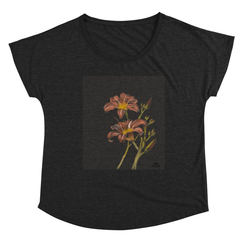 Tiger lily 2 Women's Scoop Neck by Ollam's Artist Shop