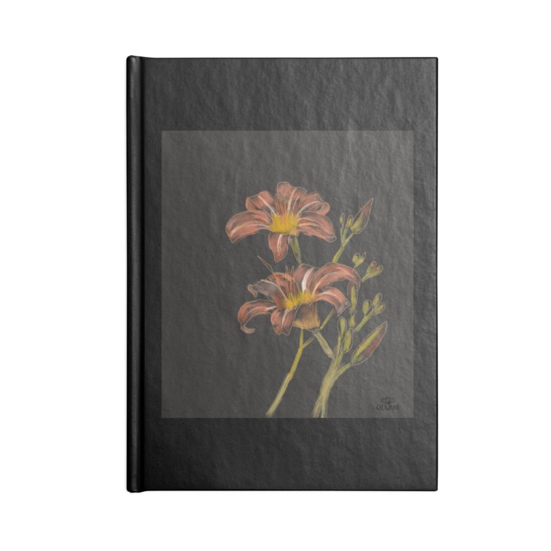 Tiger lily 2 Accessories Notebook by Ollam's Artist Shop