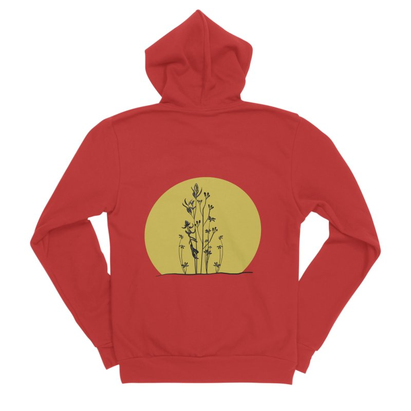 Midwest minimal Women's Zip-Up Hoody by Ollam's Artist Shop