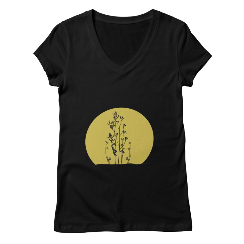 Midwest minimal Women's V-Neck by Ollam's Artist Shop