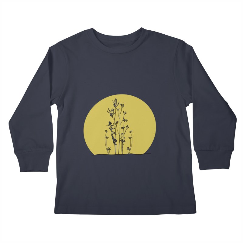 Midwest minimal Kids Longsleeve T-Shirt by Ollam's Artist Shop