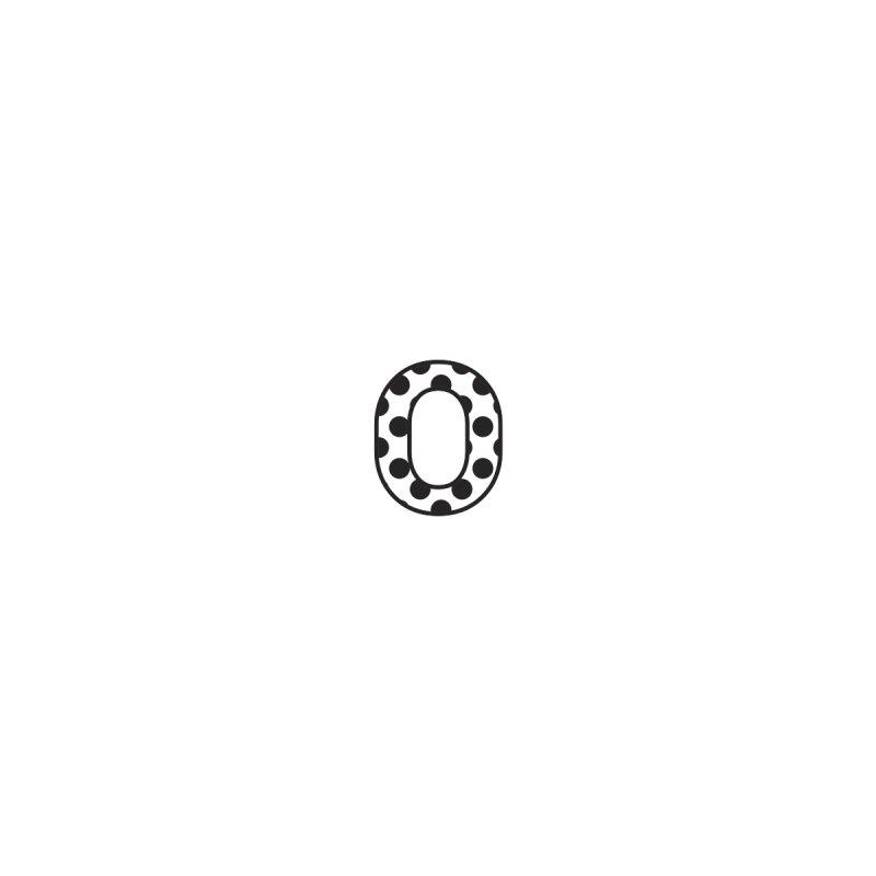 O - Polka Dot Black/White None  by Ominous Artist Shop
