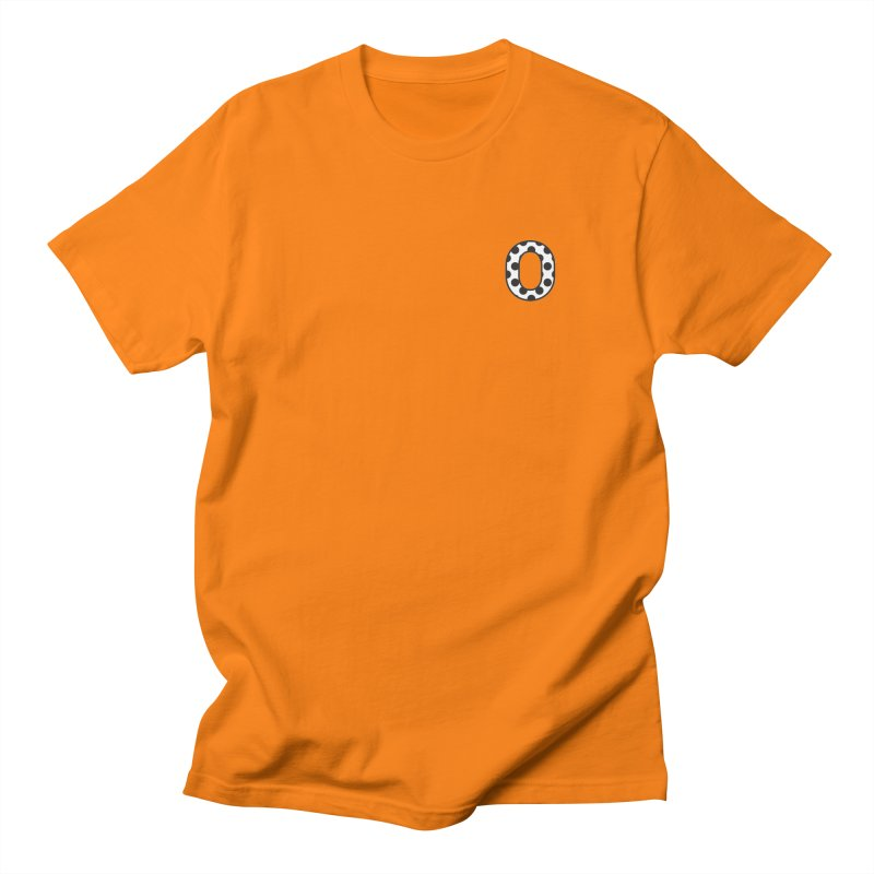 O - Polka Dot Black/White Men's T-shirt by Ominous Artist Shop