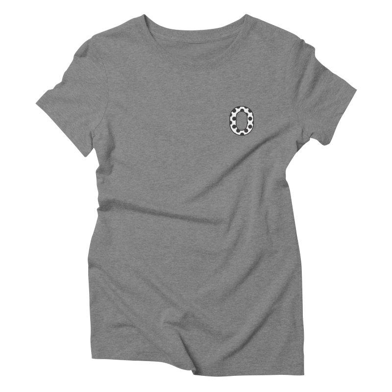 O - Polka Dot Black/White Women's Triblend T-shirt by Ominous Artist Shop