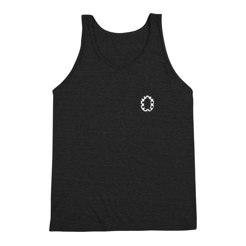 O - Polka Dot Black/White Men's Triblend Tank by Ominous Artist Shop