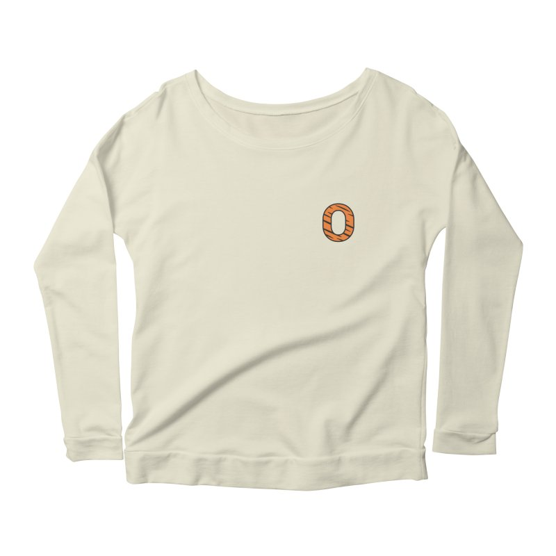 O - Tiger Women's Longsleeve Scoopneck  by Ominous Artist Shop