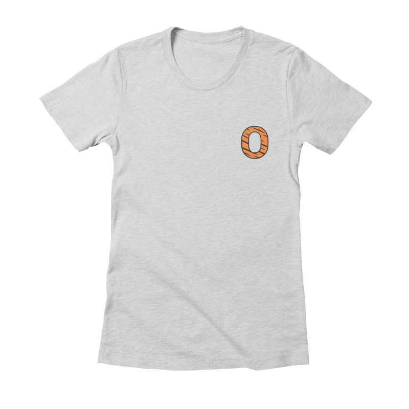 O - Tiger Women's Fitted T-Shirt by Ominous Artist Shop