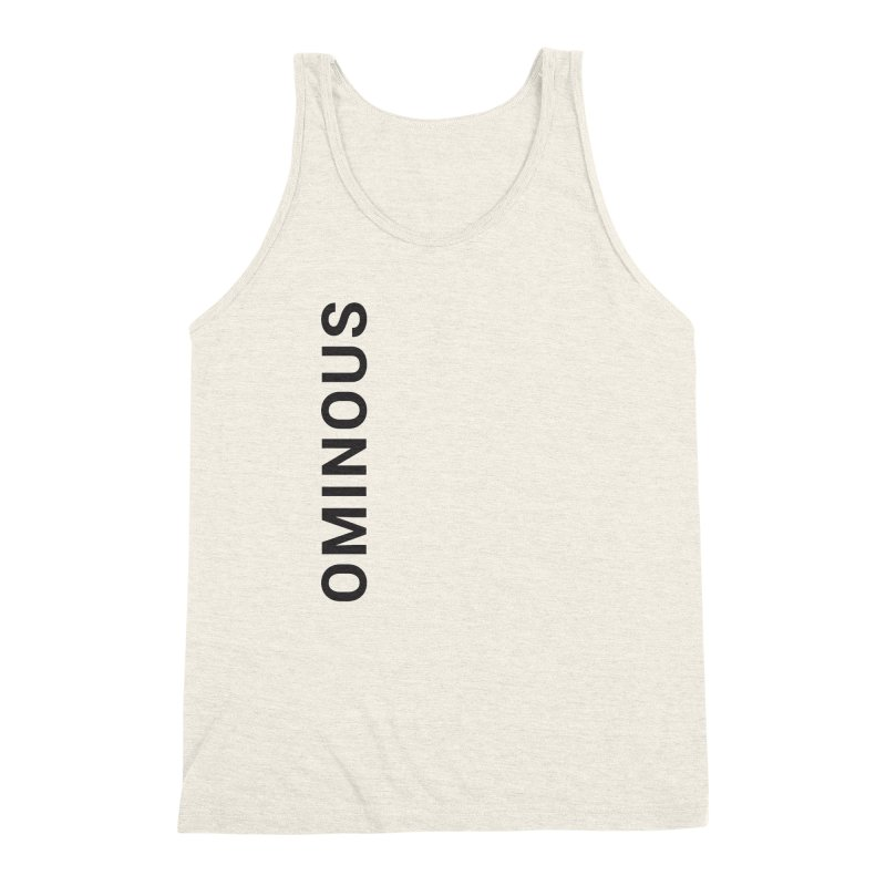 Ominous - Side Brand Men's Triblend Tank by Ominous Artist Shop