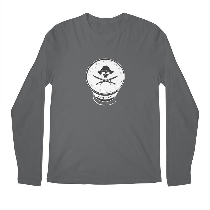 Long Black...Beard - Reverse Men's Longsleeve T-Shirt by Ominous Artist Shop