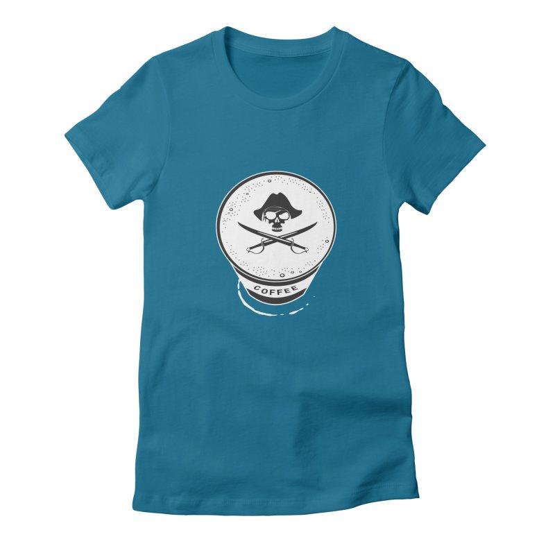 Long Black...Beard - Reverse Women's Fitted T-Shirt by Ominous Artist Shop