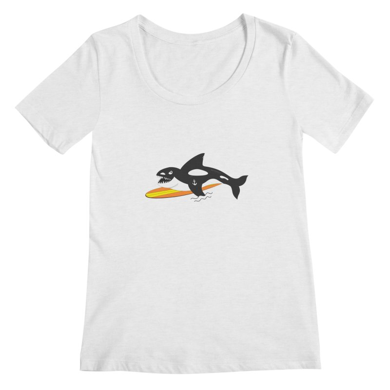 Life After Sea World Women's Scoopneck by Ominous Artist Shop
