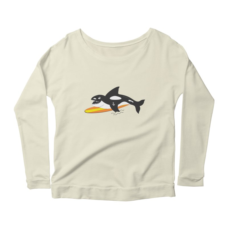 Life After Sea World Women's Longsleeve Scoopneck  by Ominous Artist Shop
