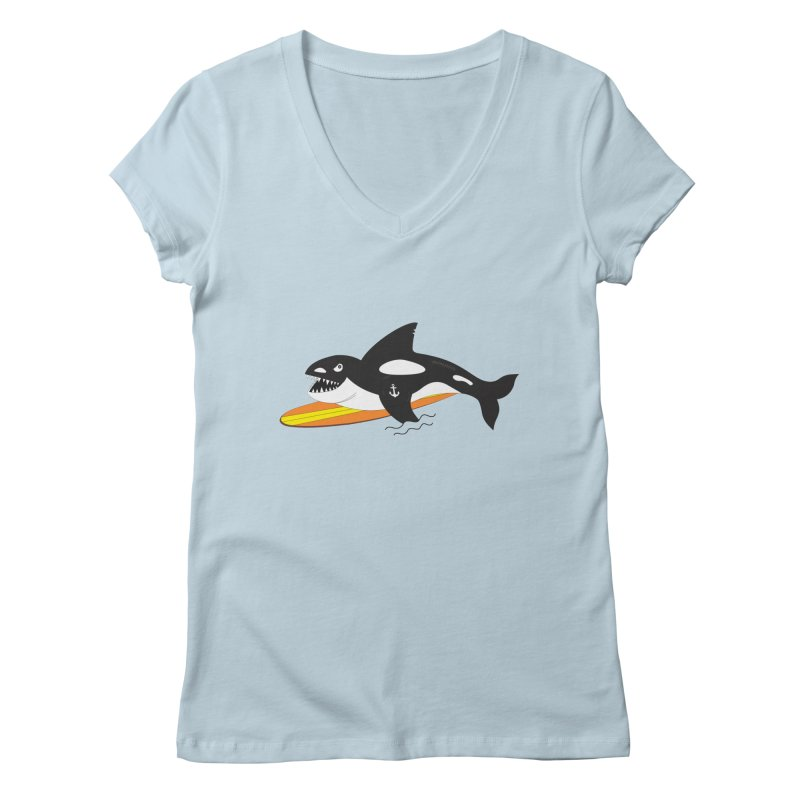 Life After Sea World Women's V-Neck by Ominous Artist Shop